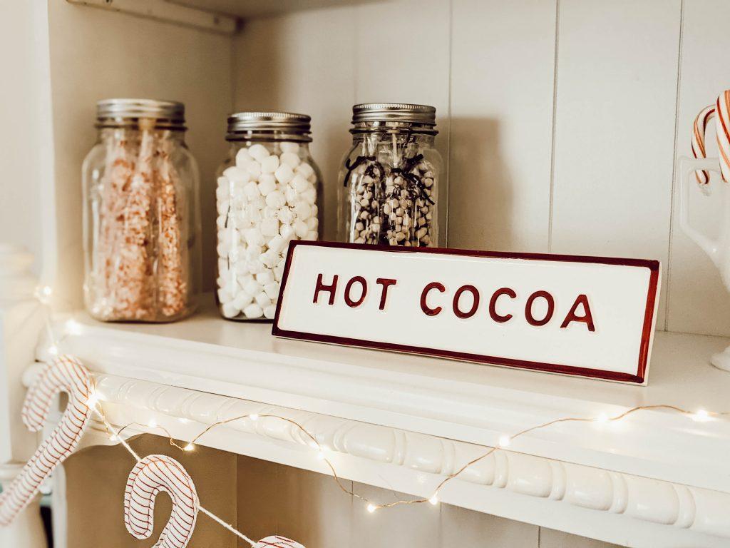 hearth and hand hot cocoa bar sign