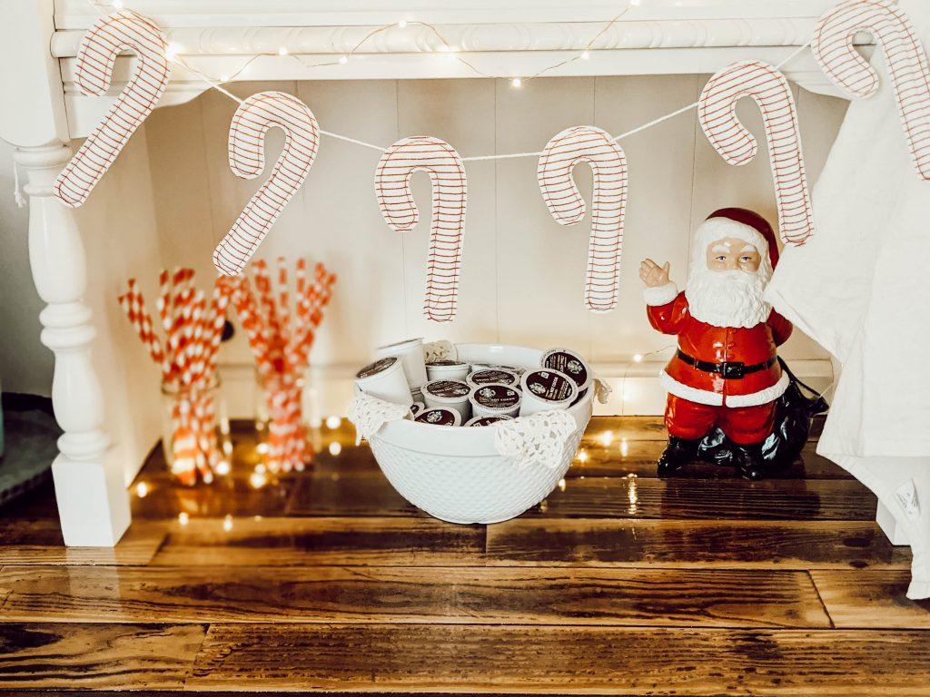 vintage santa and Christmas decor