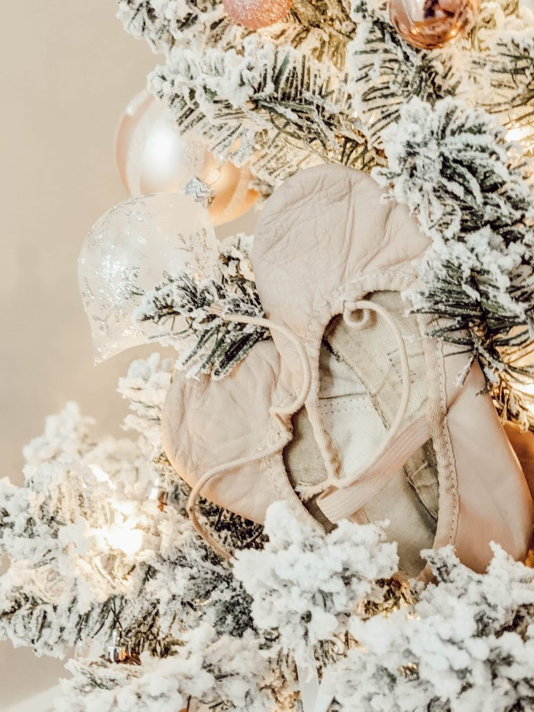 pink ballet slippers displayed as ornaments